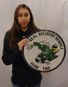 Naval Special Warfare Unit SEAL Delivery Vehicle Team Two All Metal Sign
