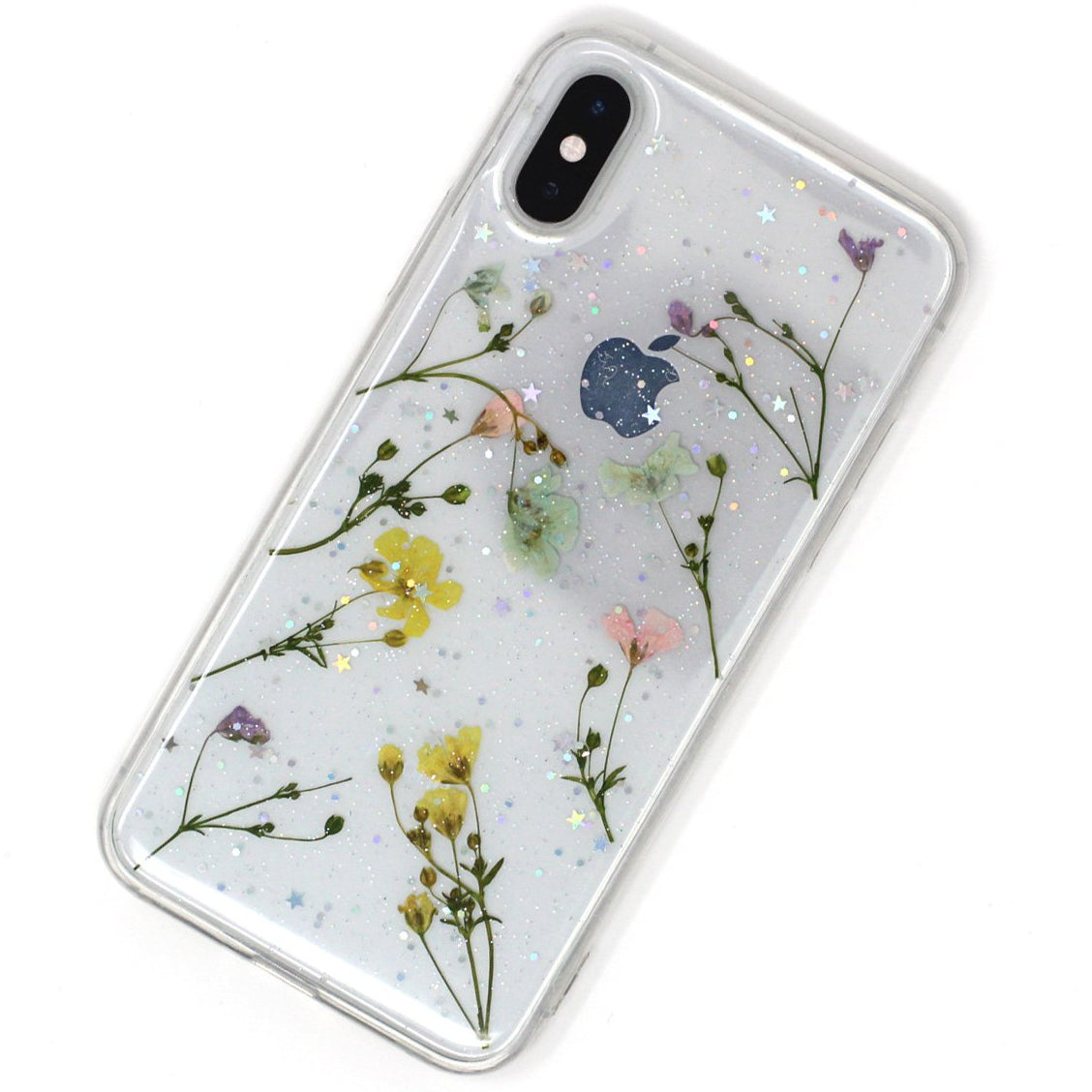 Transparent Mixed Flowers Case
