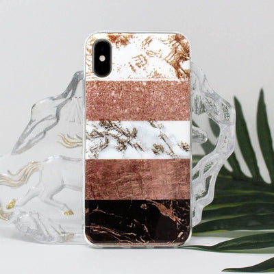 Sectioned Pink Marble Case - Belacase Ave.