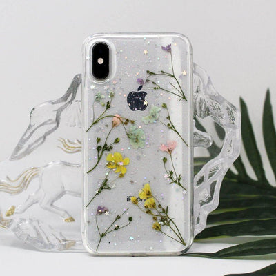 Transparent Mixed Flowers Case - Belacase Ave.
