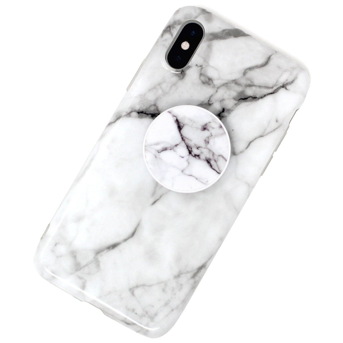 White Marble Case With Grip