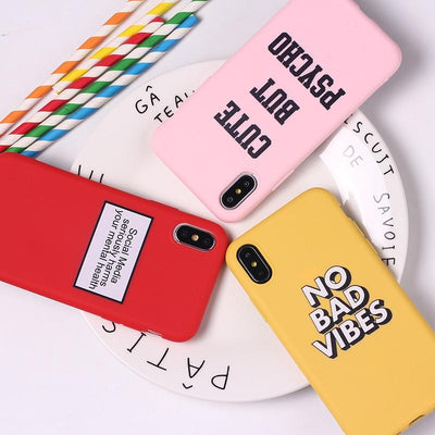 No Bad Vibes Case (Yellow/ Red/ Pink) - Belacase Ave.