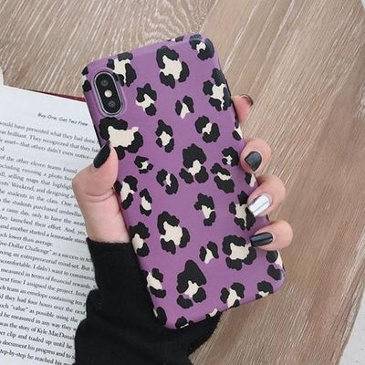 Purple Cheetah Print Case - Belacase Ave.