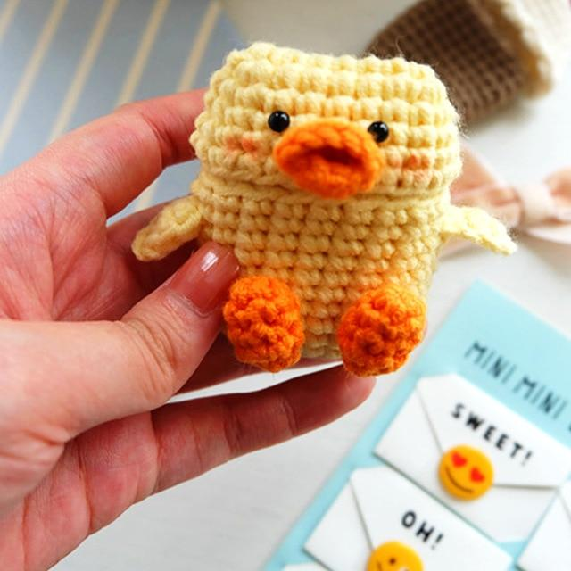 Hand-Knit Duck AirPods Case