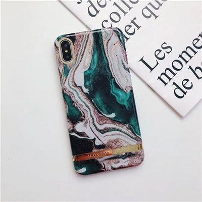 Turquoise Love Marble Case - Belacase Ave.