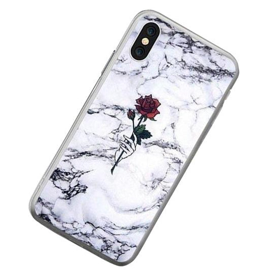 Rose White Marble Case