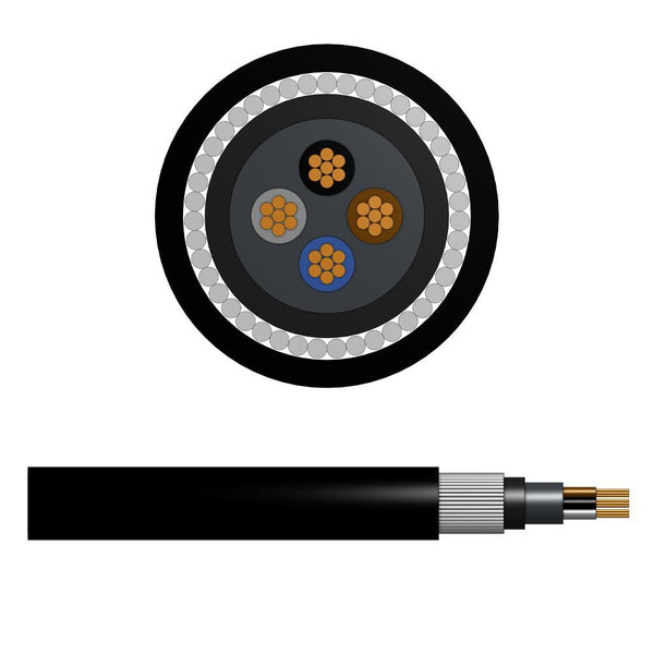 16.0mm Steel Wire Armoured Cable - 4 Cores (SWA) LSZH Sheathing