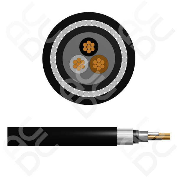 1.5mm Steel Wire Armoured Cable - 3 Cores (SWA) LSZH Sheathing