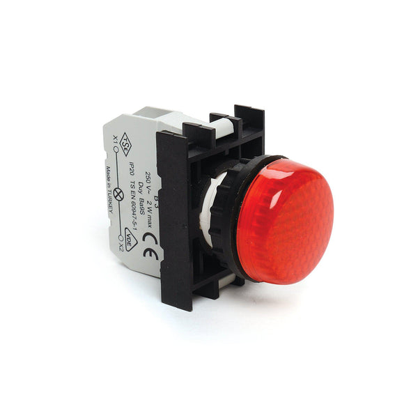 EMAS Red LED Pilot Light - B0D0XB - 110V AC-DC