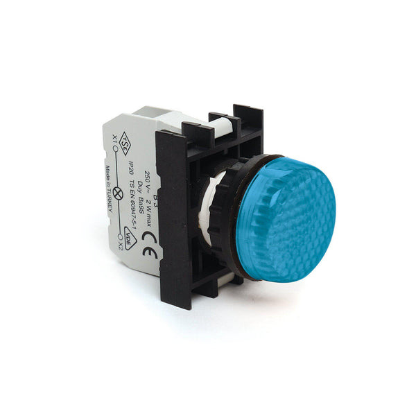 EMAS Blue LED Pilot Light - B0M0XM - 100-230VAC