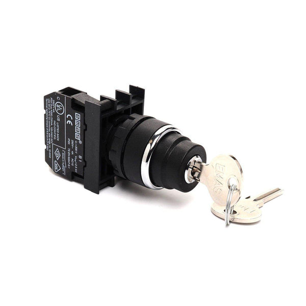 EMAS Key Operated Spring Return Switch - B101AA31 (II-0-I) 2 NO