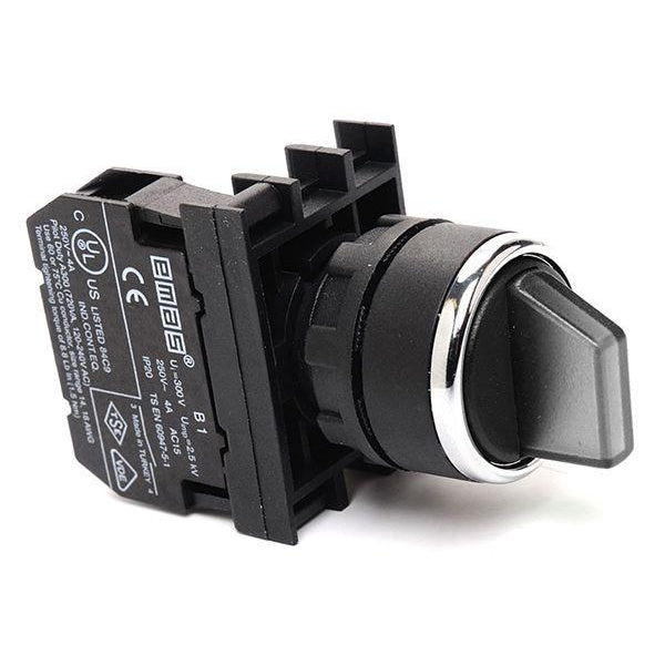 EMAS Black Spring Return Selector - B101SL31H - (II-0-I) - 2 NO