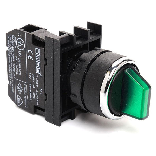 EMAS Green Multipole Selector Switch - B100SL20Y (0-1) - 1 NO