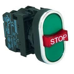 Stop Triple Push Button - B121B30YY - 1 NO + 1 NC + 1 NO
