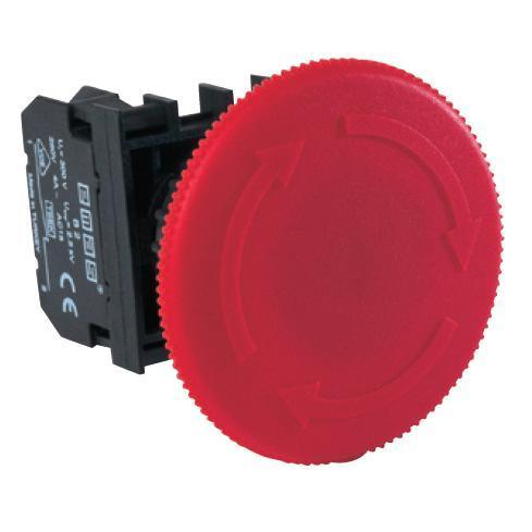 Emergency Stop Button - B102E60 - 60mm - 1 NO + 1 NC