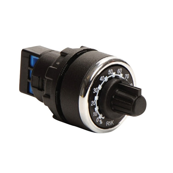 EMAS Black 10 kΩ Potentiometer - BPR10K - IP65 - 1.5W