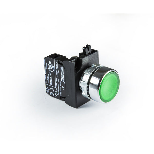 Metal Green Push Button - CM200DY - IP65 - 1 NC