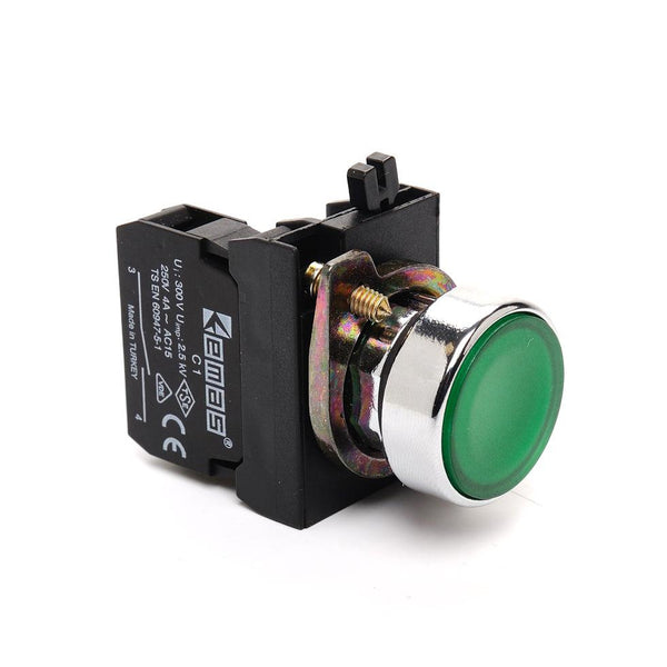 Metal Green Push Button - CM305DY - IP65 - 2 NO + 2 NC