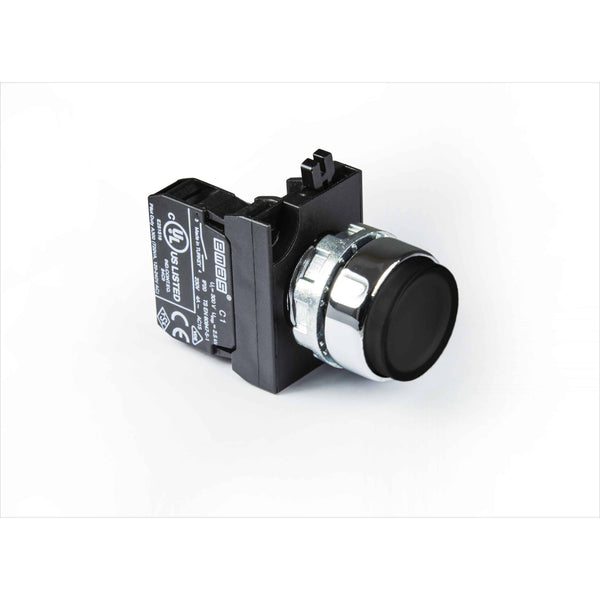 Metal Black Extended Push Button - CM202HH - IP65 - 2 NC