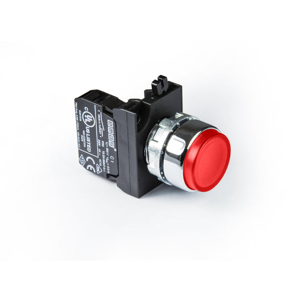Metal Red Extended Push Button - CM101HK - IP65 - 2 NO