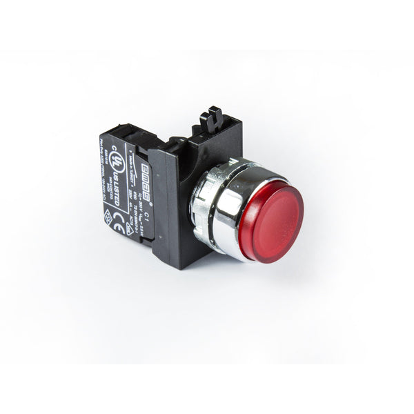 Metal Red Extended Push Button - CM100HK - IP65 - 1 NO