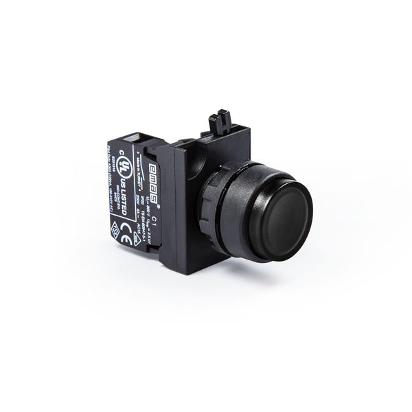 Extended Black Push Button - CP202HH - IP65 - 2 NC