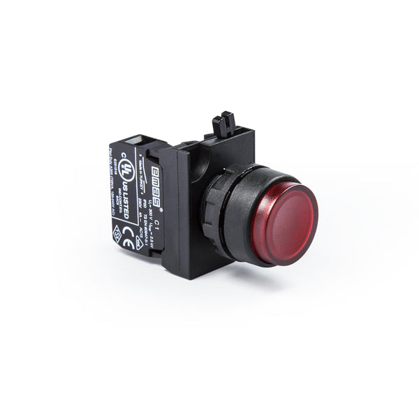 Extended Red Push Button - CP100HK - IP65 - 1 NO