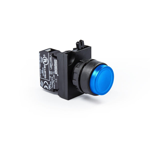 Extended Blue Push Button - CP102HM - IP65 - 1 NO + 1 NC