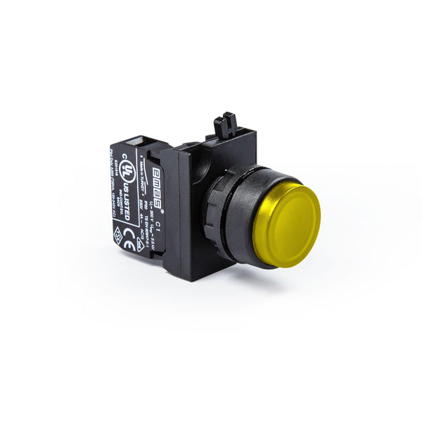 Extended Yellow Push Button - CP202HS - IP65 - 2 NC