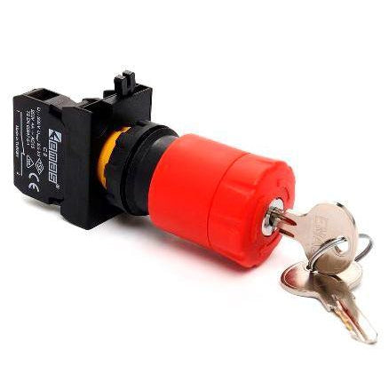 Key Operated Stop Button - IP65 - CP200EA30 - 30mm - 1 NC