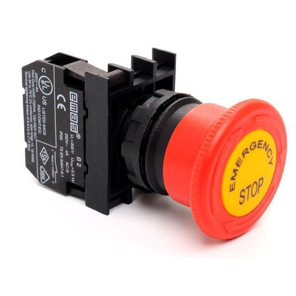 Labeled Emergency Stop Button - IP65 CP200EE - 40mm - 1 NC