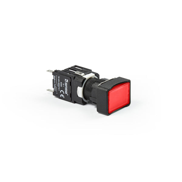 Rectangular Red Push Button - D101DDK - IP50 - 2 NO