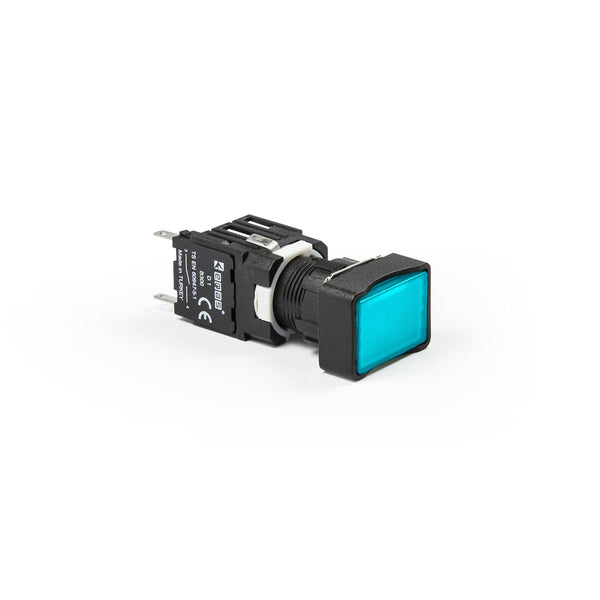 Rectangular Blue Push Button - D202DDM - IP50 - 2 NC