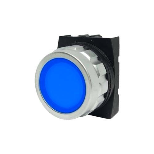 Encased Blue Push Button - H200DM - IP50 - 1 NC