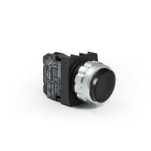 Encased Black Extended Push Button - H100HH - IP50 - 1 NO