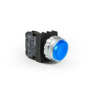 EMAS Blue Pilot Light - 30mm - IP50 - H070XM - 12-30V AC-DC