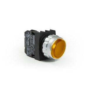 Encased Yellow Extended Push Button - H202HS - IP50 - 2 NC