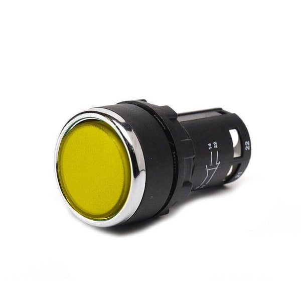 Monoblock Yellow Push Button - MB101DS - IP50 - 2 NO