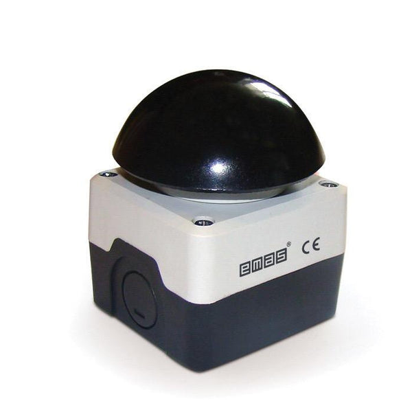 72mm Black Mushroom Button - Plastic Enclosure IP65 -