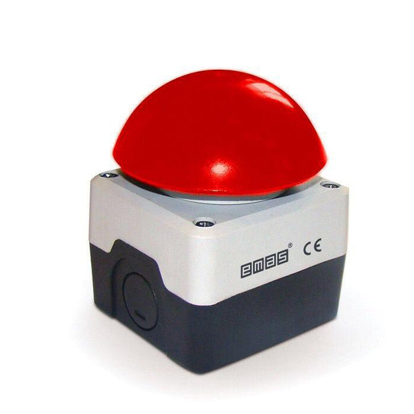 72mm Red Mushroom Button - Plastic Enclosure IP65 -