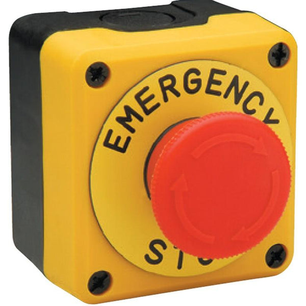 40mm Emergency Stop Button With Plate -  IP65 -