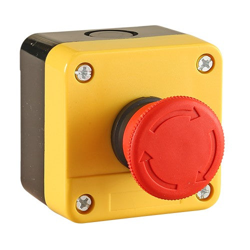 40mm Emergency Stop Button - Plastic Enclosure IP65 -