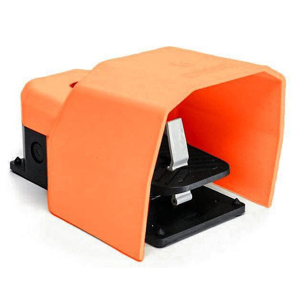 Protected Foot Switch - Stay Put - 1NO + 1NC Orange - EMAS