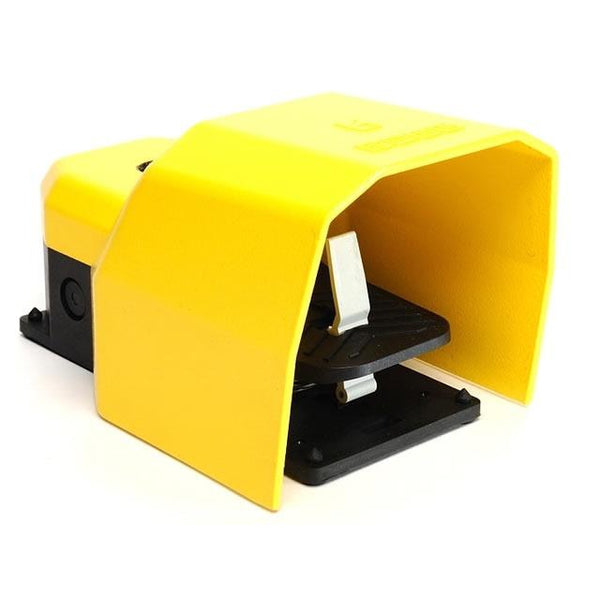 Protected Foot Switch - Stay Put - 1NO + 1NC Yellow - EMAS