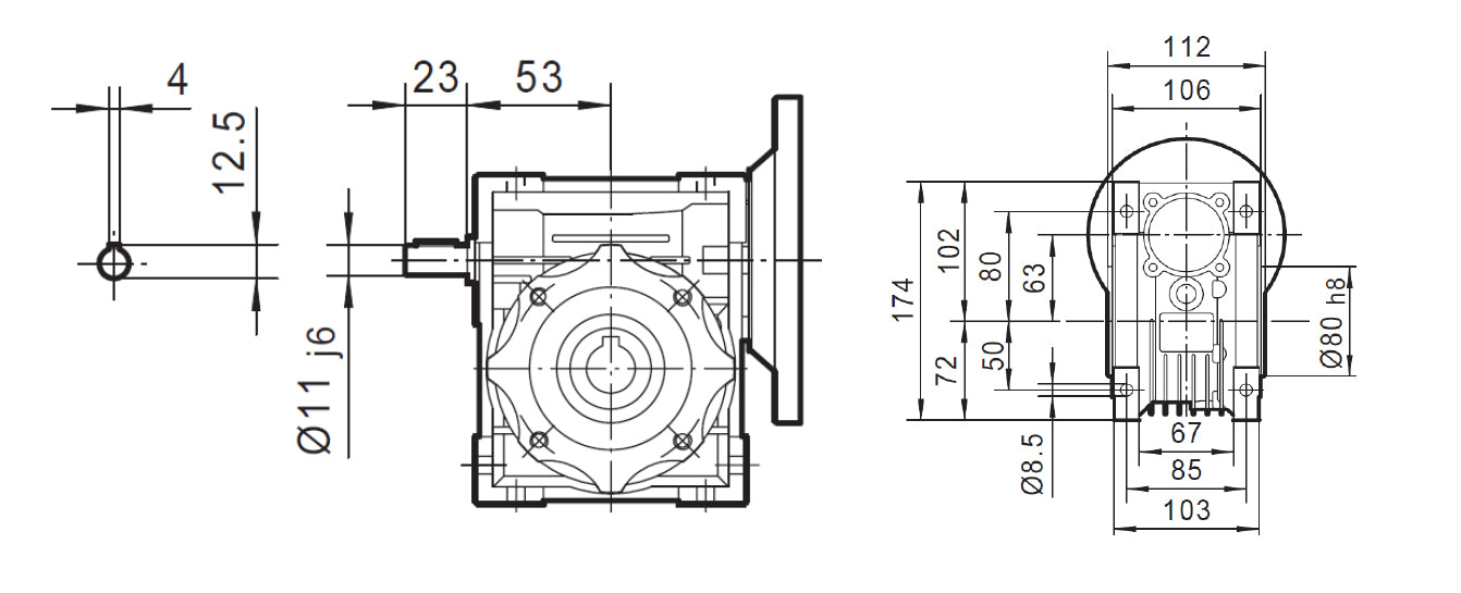 Motor Gearbox Dimensions