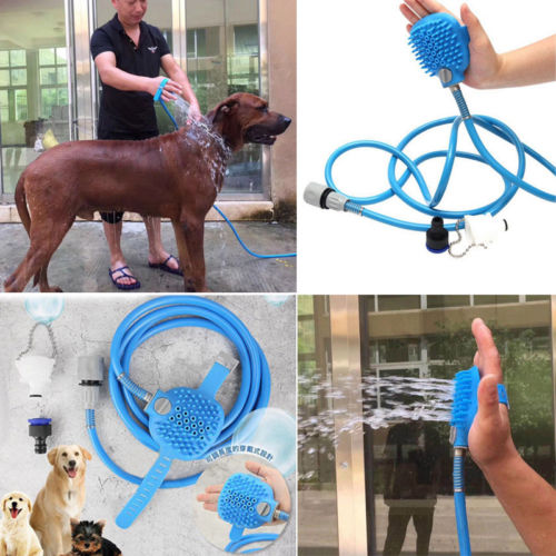 Multifunctional Dog Bathing Shower and Scrubbing Brush
