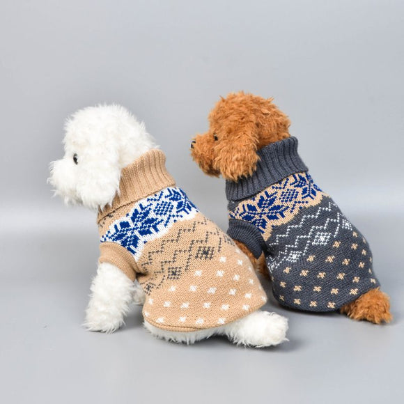 Soft Knitted Pattern Dog Sweater For Small and Medium Dogs (15 Colours)