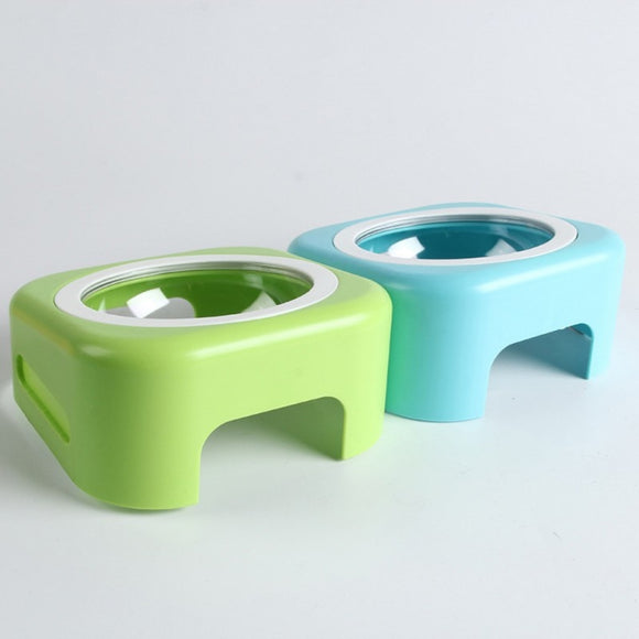 Adjustable Resin Raised Dog Feeding Bowl