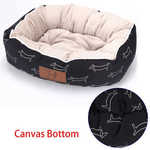 Patterned Comfy Dog Bed with Memory Foam