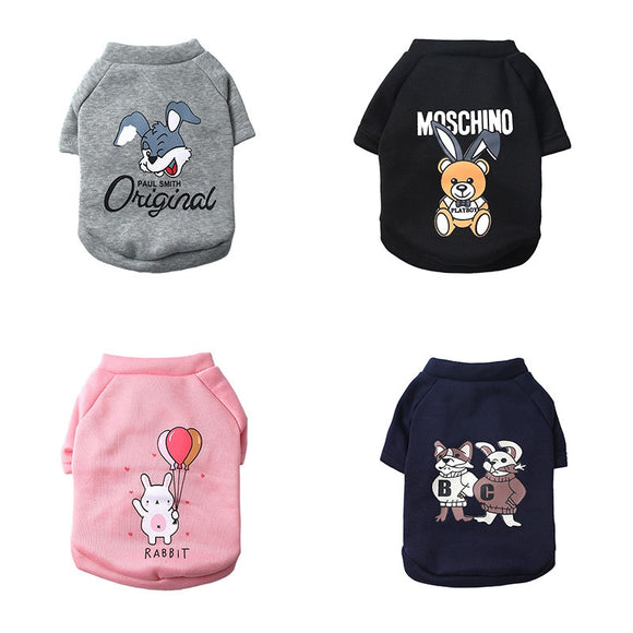 Designed Cotton Dog Tops